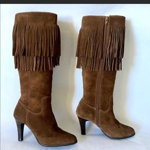 """Matisse """"Sioux"""" Fringed  Boho Knee High Boots"""